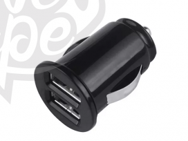 Grab n Go - Carcharger Dual Usb - 2.1 Amp - Zwart